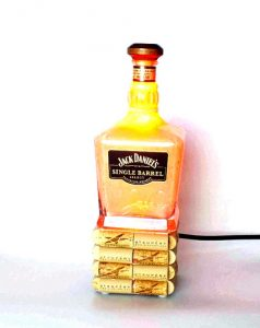 Jack Daniels Whiskey Liquor bottle lamp