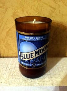 Vanilla Scented Beer Bottle Candle