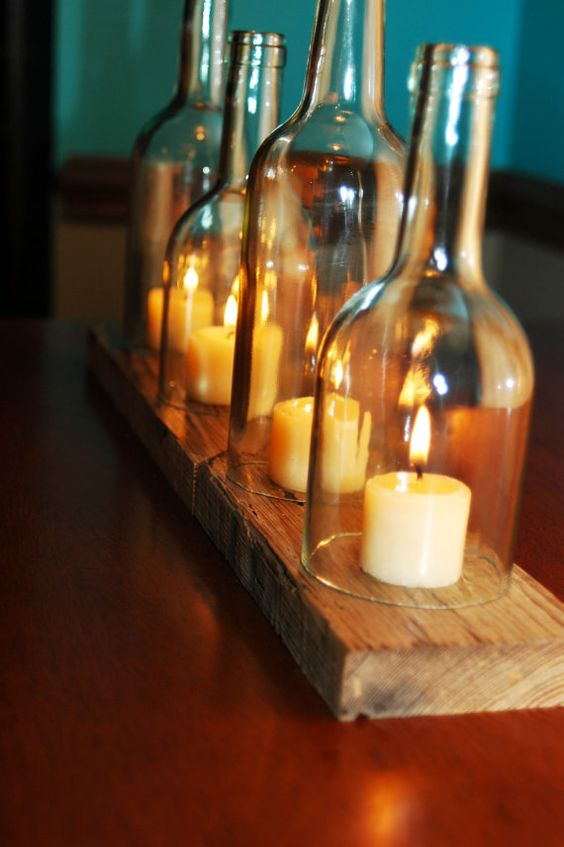 Make a storm lamp from recycled bottles