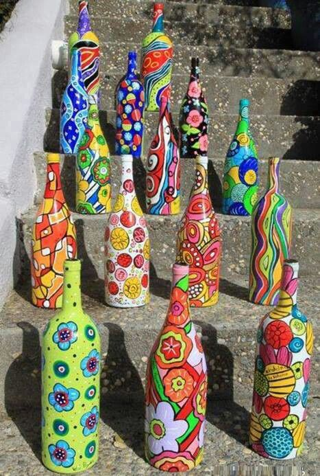 Bottle crafts idea from pinteres