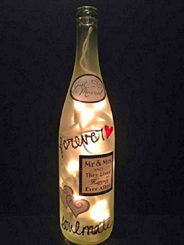 Just Married Bottle Light
