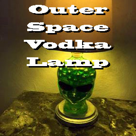 Outer Space Vodka Lamp
