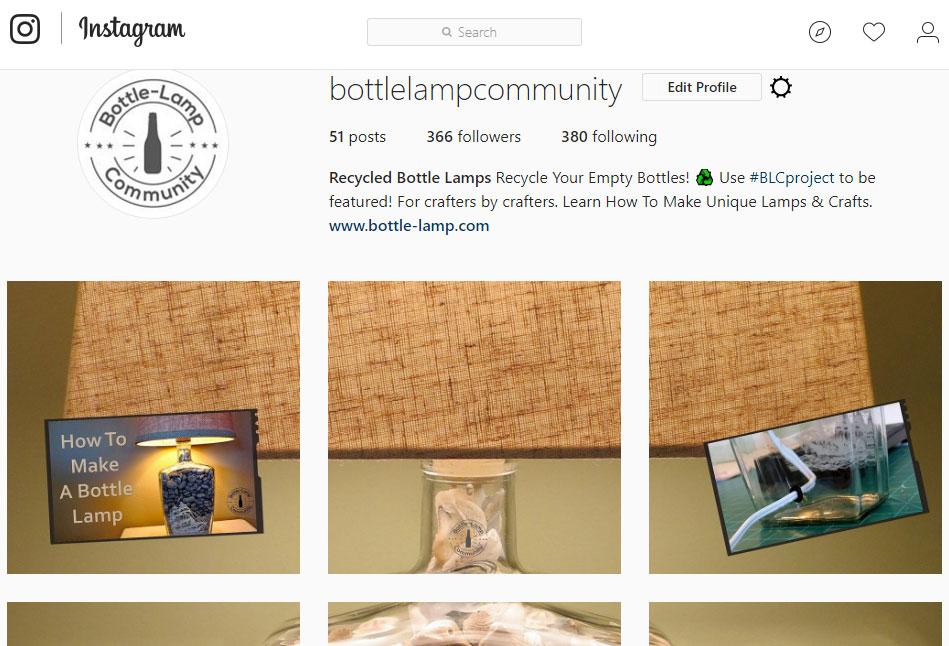 Instagram BottleLampCommunity
