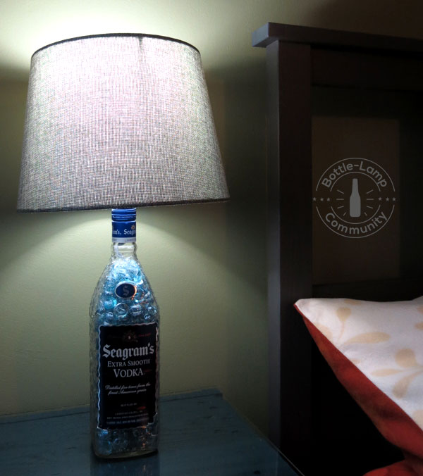 Make your own diy beside lamps how to make a bottle lamp diy bedside lamp solutioingenieria Gallery