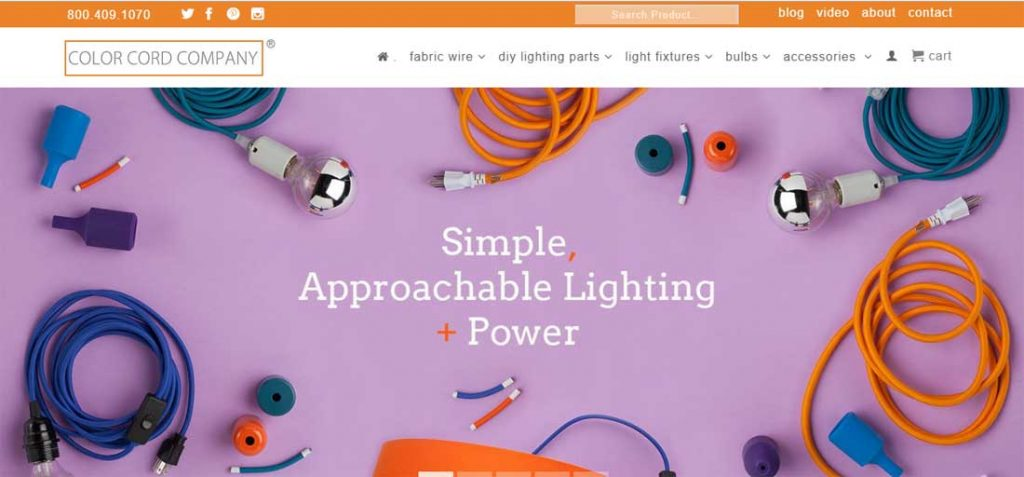 Color Cord Company Web Page