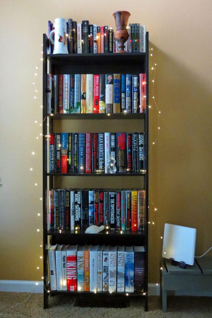 LED Starry String Lights Bookshelf