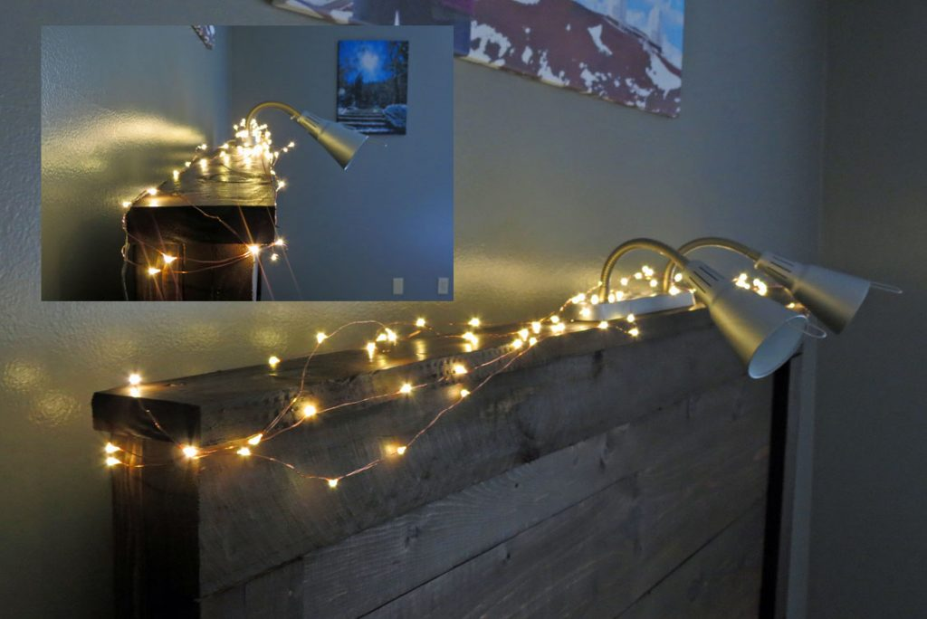LED Starry String Lights Headboard