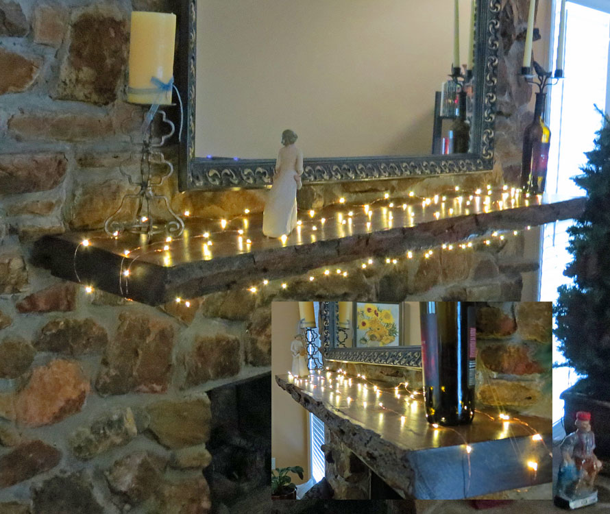 LED Starry String Lights Mantel