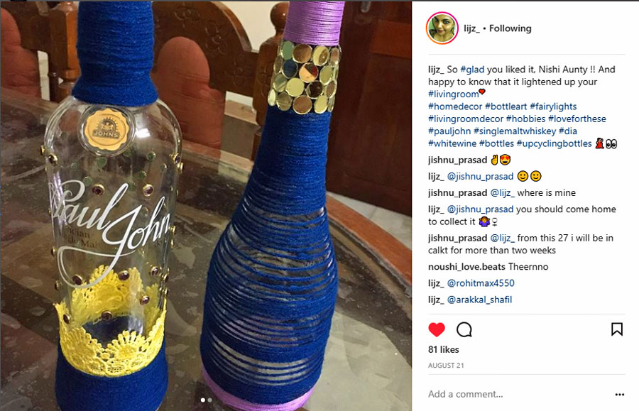 Lijz Instagram bottles