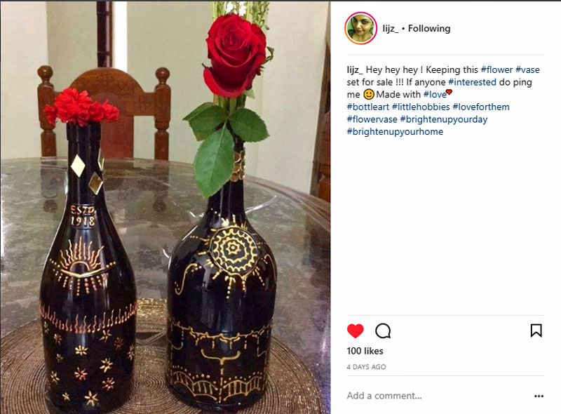 Lijz Instagram bottle rose