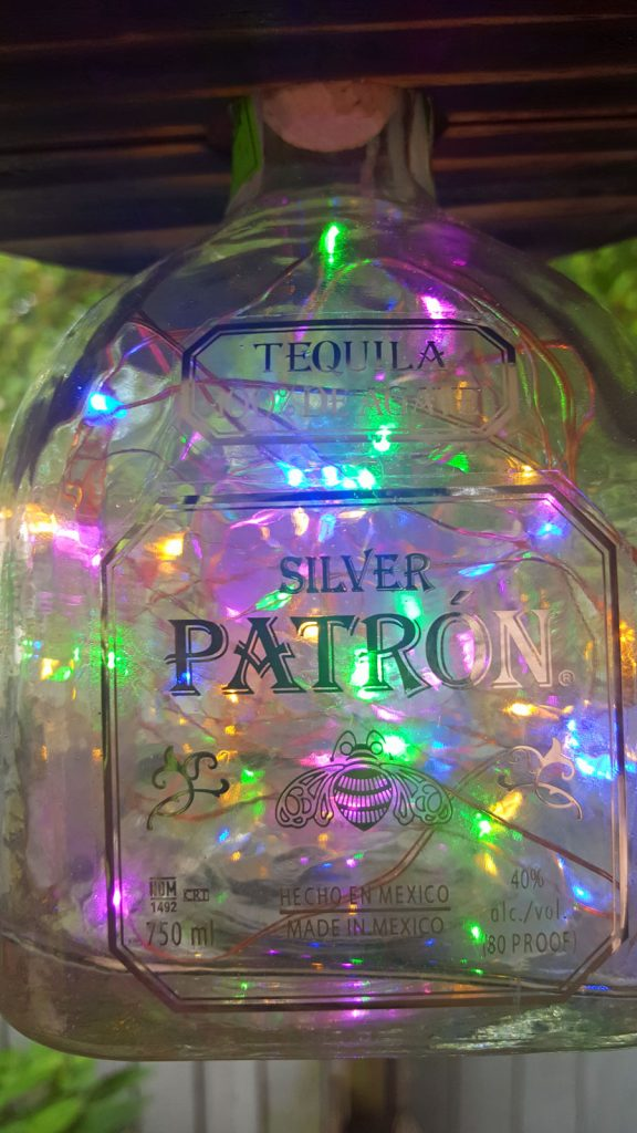Patron Whiskey Bottle Light