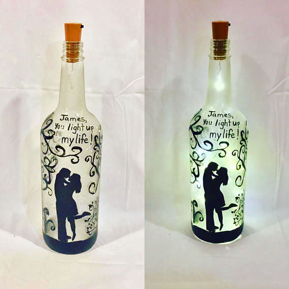 Valentine S Day Bottles On Etsy How To Make A Bottle Lamp