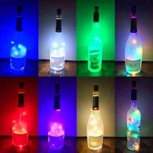 Lighted bottles for a fundraiser