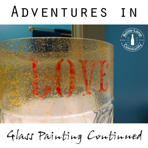 Glass Bottle Paint Project Featured Image