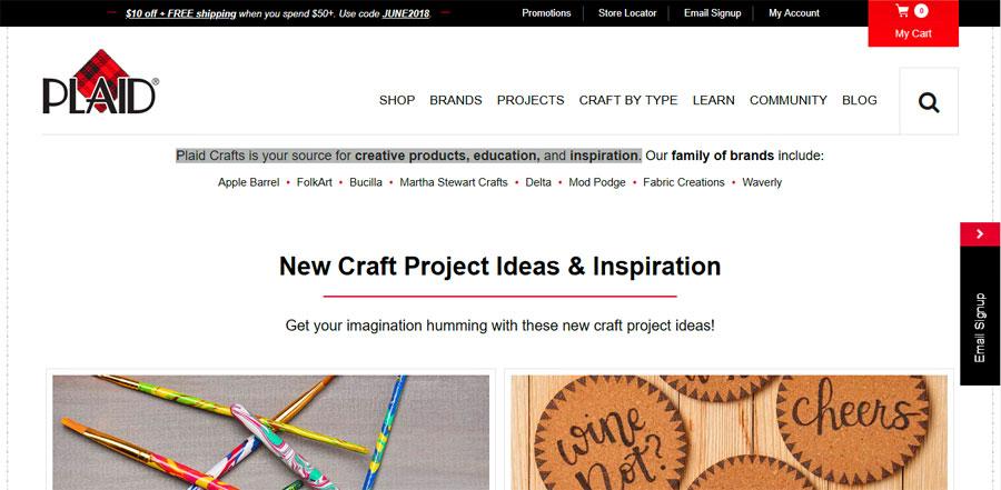 Plaid Crafts Homepage