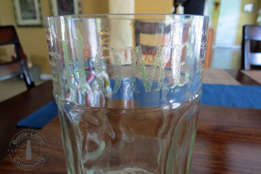 Stenciled Glass Vase