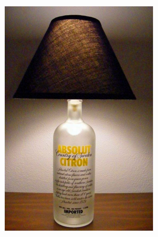 Absolute Citron bottle lamp