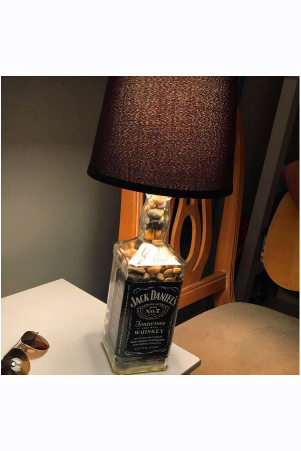 Jack Daniels bottle lamp