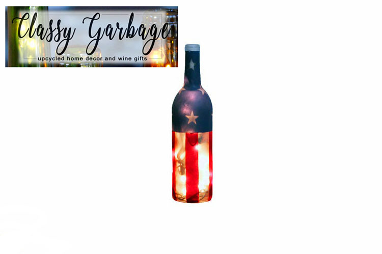 Flag bottle on sale on Etsy