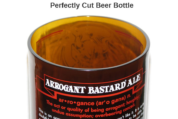 Tips for cutting a beer bottle