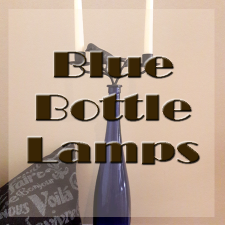 Eye-catching blue bottle lamps