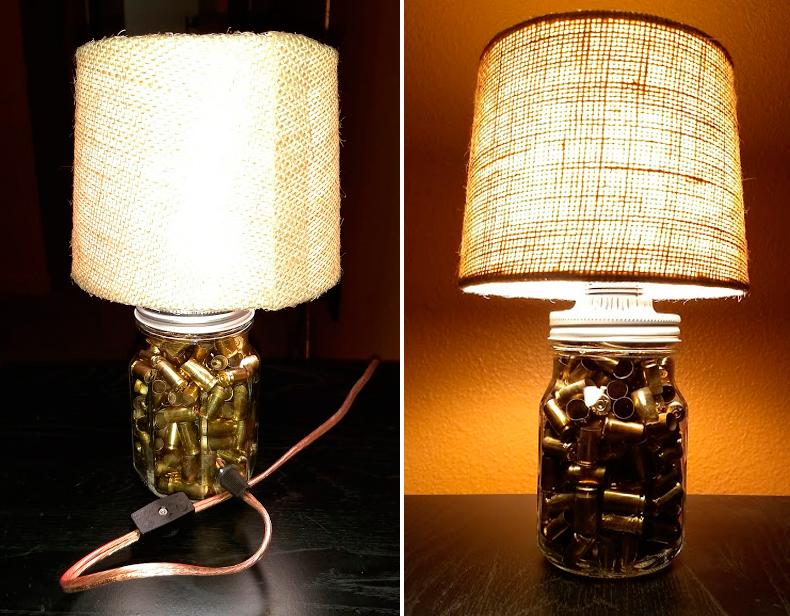 Mason Jar Bullet Lamp
