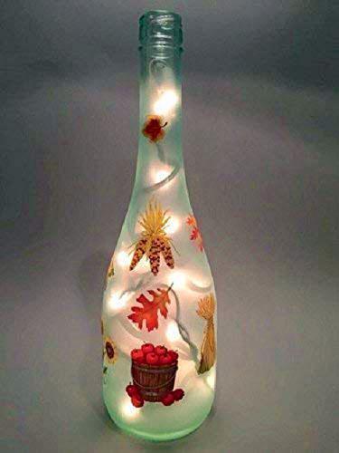 Seasons Autumn Wine Bottle Light