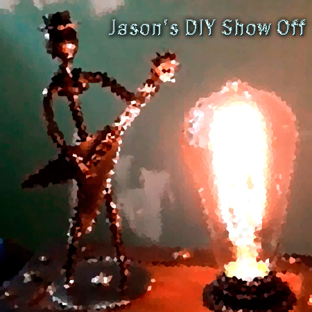 Bottle lamp DIY show off's by Jason