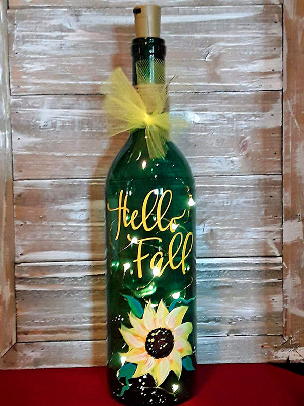 Hello Fall themed bottle