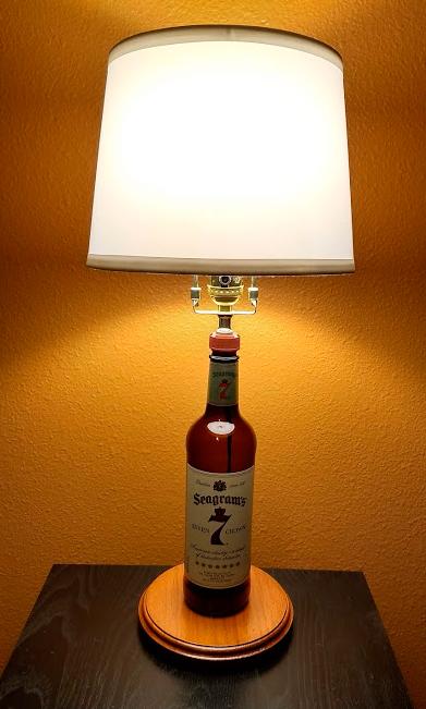 Seagram 7 bottle lamp
