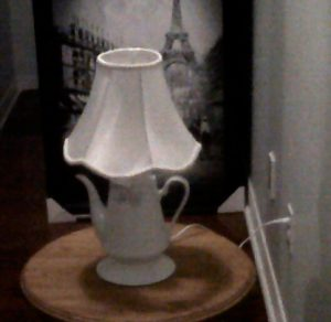 A Coffee Pot Lamp for your coffee table