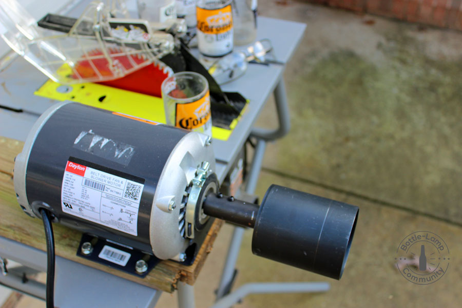 Roto-Rim attached to electric motor.
