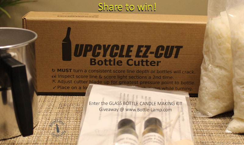 Share the Glass Bottle Candle Making Kit Giveaway