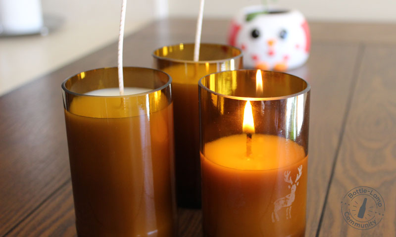 Make your own bottle candles with the Deluxe candle making kit