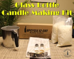 Glass bottle scented candle making kit