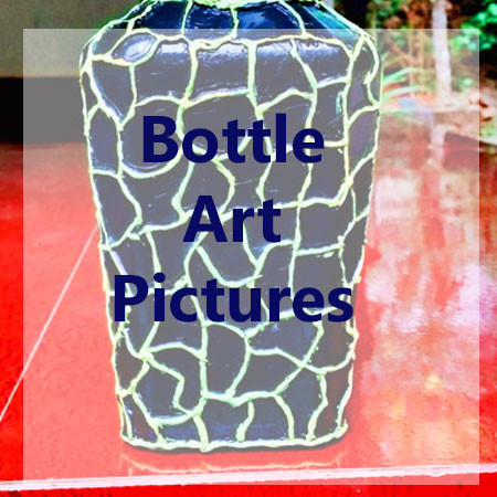Pictures of recycled bottle art