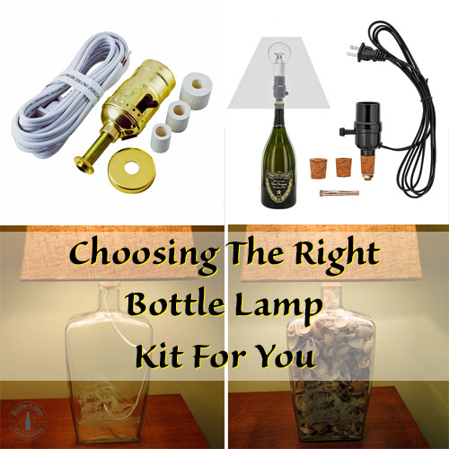 Drill or No Drill Bottle Lamp Kits